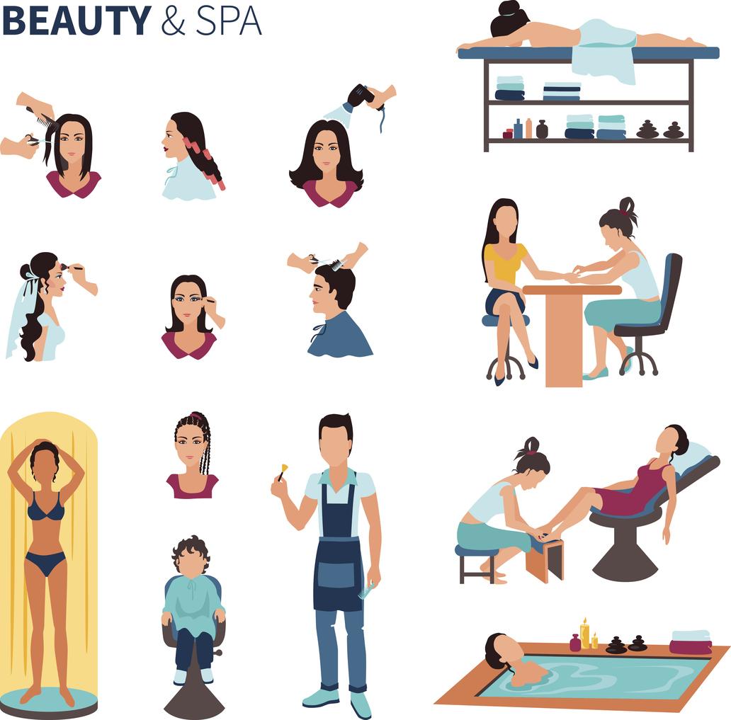 Список услуг салона красоты