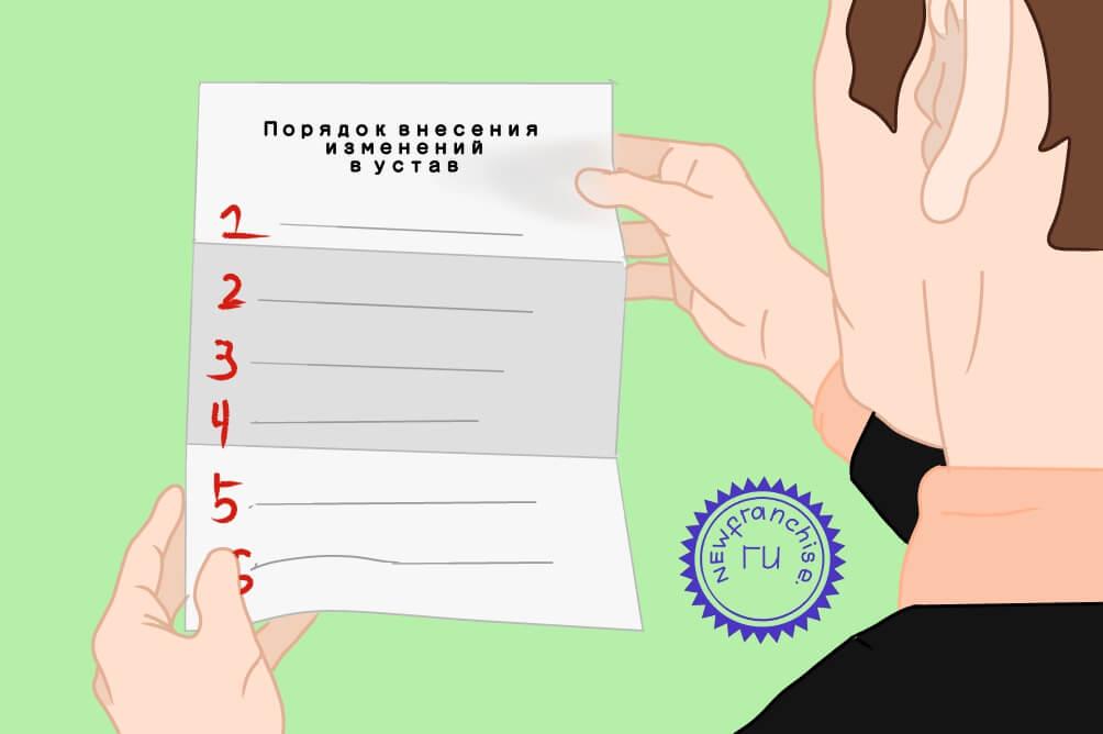 Порядок внесения изменений в устав ООО